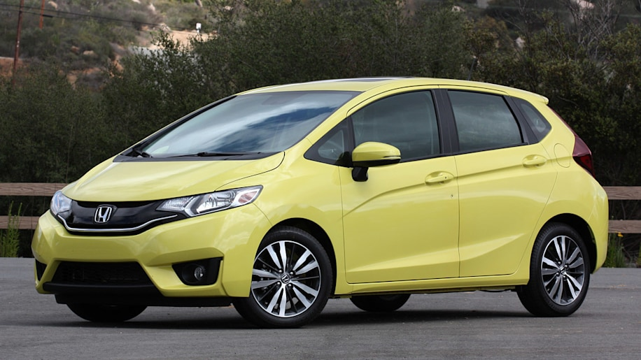 Honda Fit hatchback in yellow