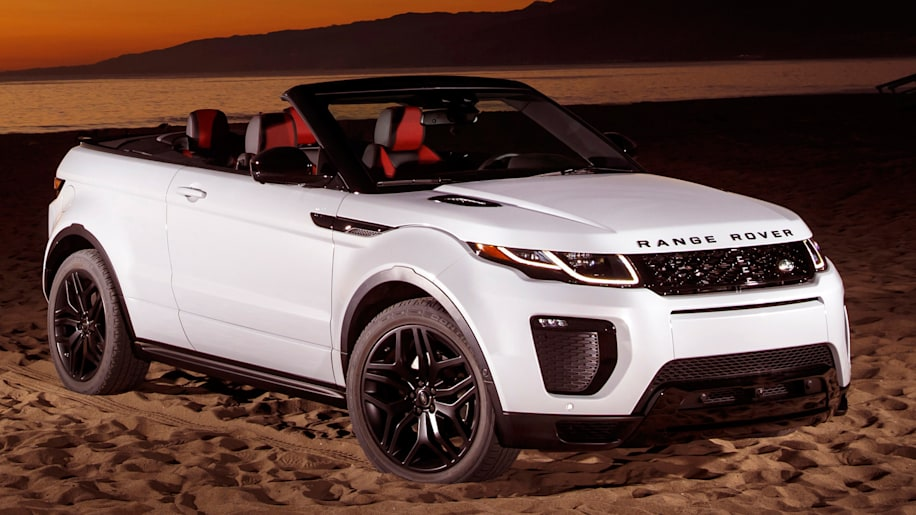 the range rover evoque convertible is absurd and strangely appealing autoblog. Black Bedroom Furniture Sets. Home Design Ideas