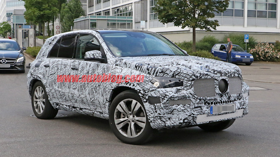 2018 mercedes benz gle spy photo suv front