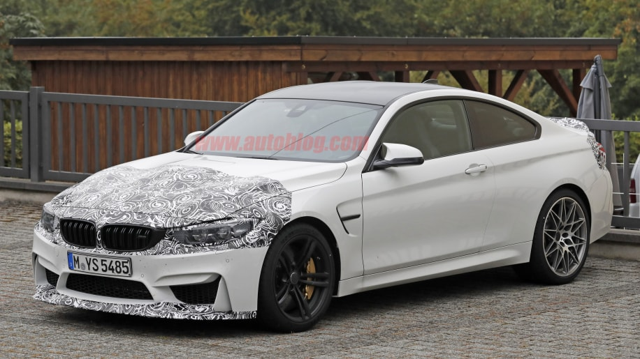 BMW M4 Facelift Spy Shots Three Quarter Front Exterior