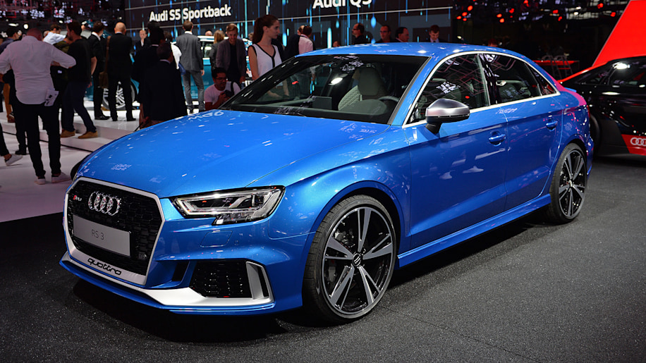 The Audi Rs3 Shows Up At Paris With Five Cylinders 400 Hp And A