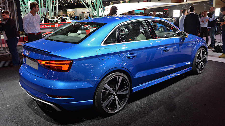 the audi rs3 shows up at paris with five cylinders, 400 hp, and a