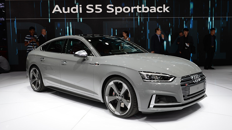 audi a5 and s5 sportbacks look slinky for the paris motor. Black Bedroom Furniture Sets. Home Design Ideas