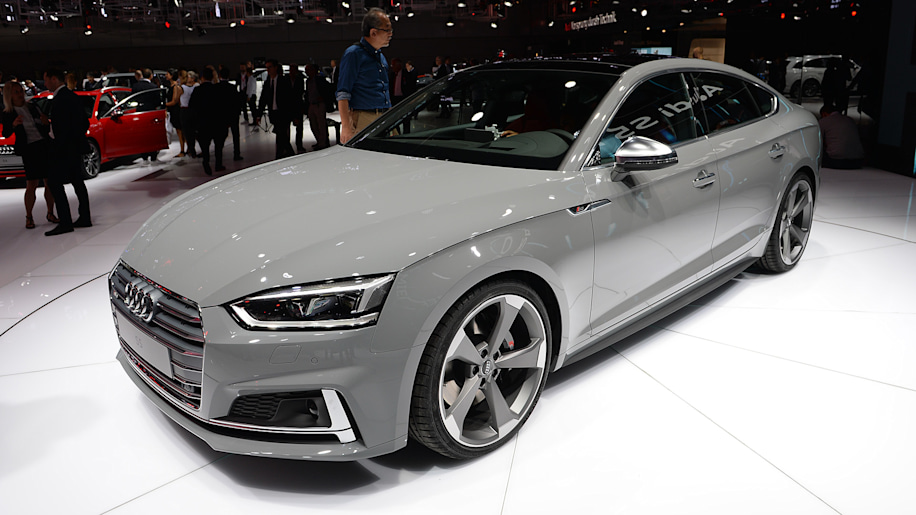 audi a5 and s5 sportbacks look slinky for the paris motor show