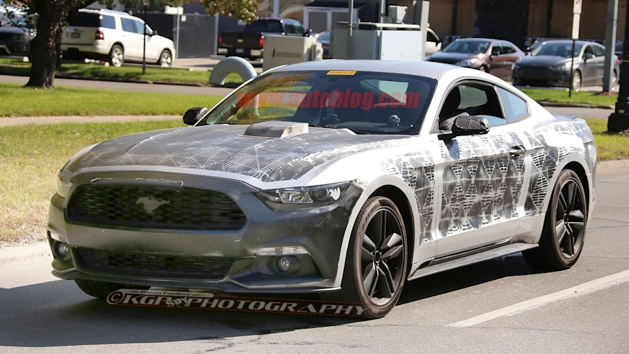 2018 Ford Mustang prototype front 3/4