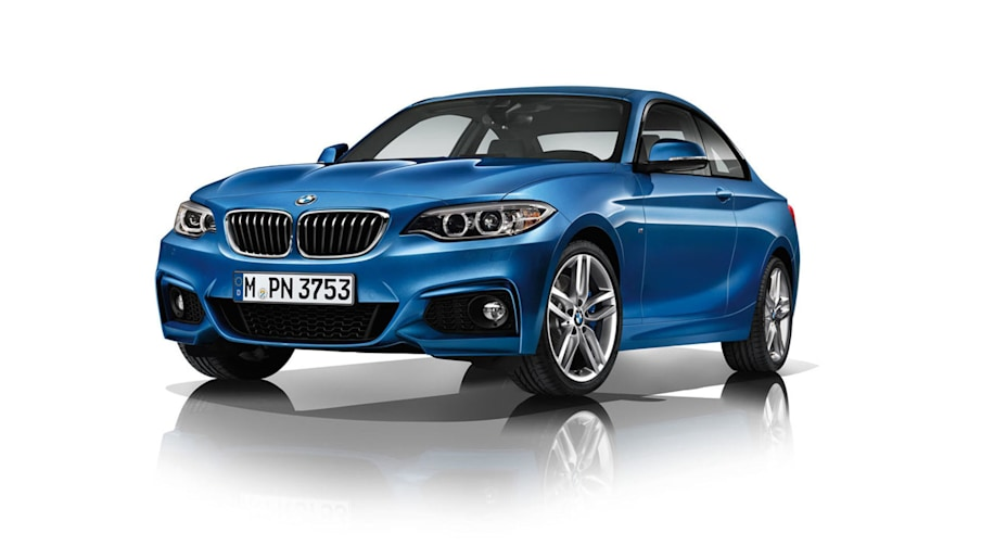 BMW 2 Series coupe in blue