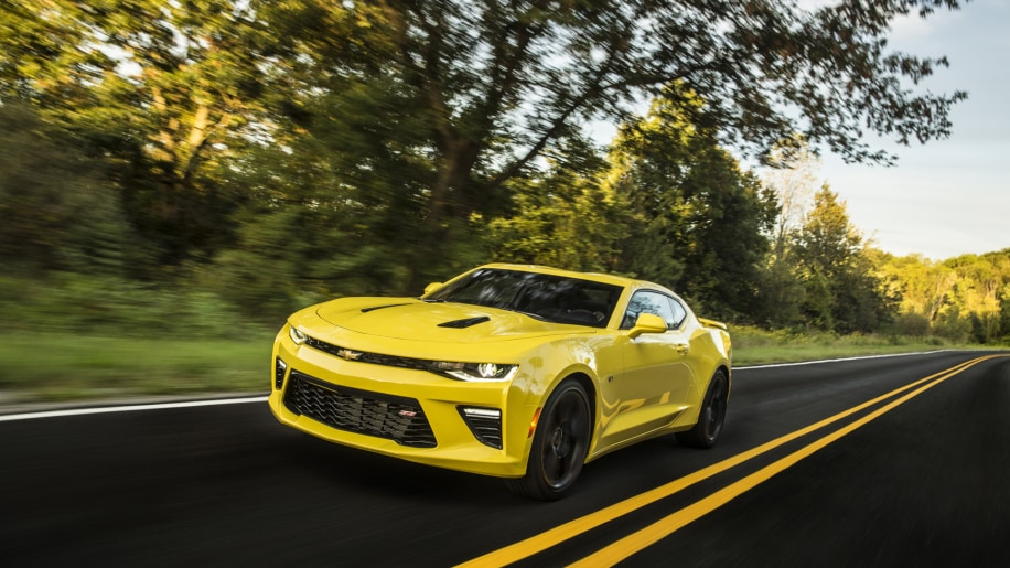 Chevy Camaro coupe in yellow