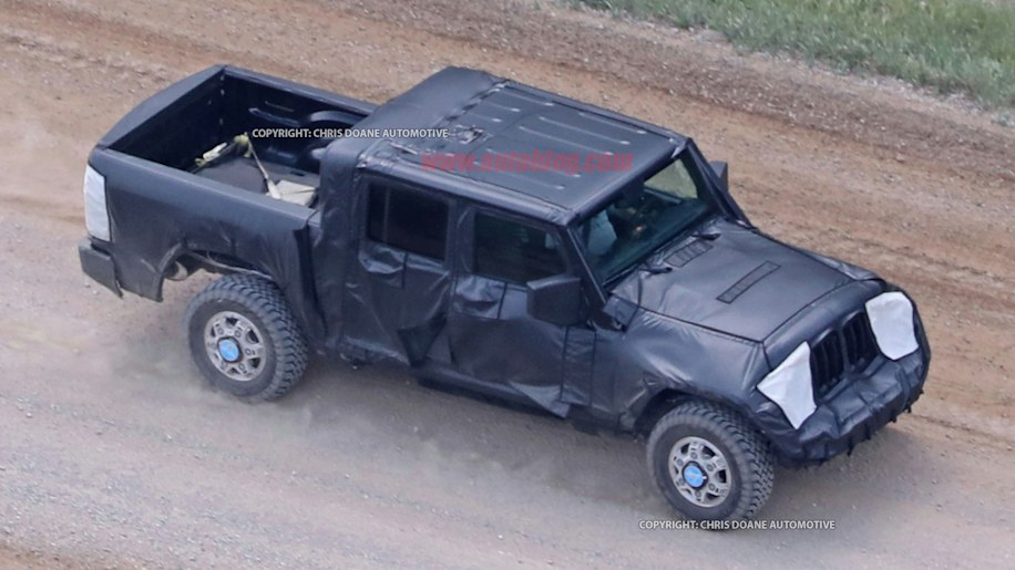 Jeep Wrangler Pickup Truck Spy Shots