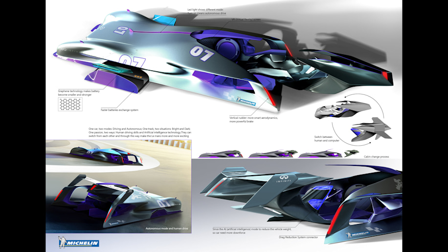 1st Place: Infiniti Le Mans 2030 by Tao Ni
