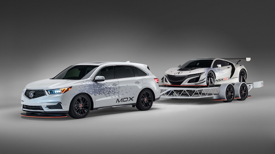 2017 Acura MDX concept, trailer and NSX GT3