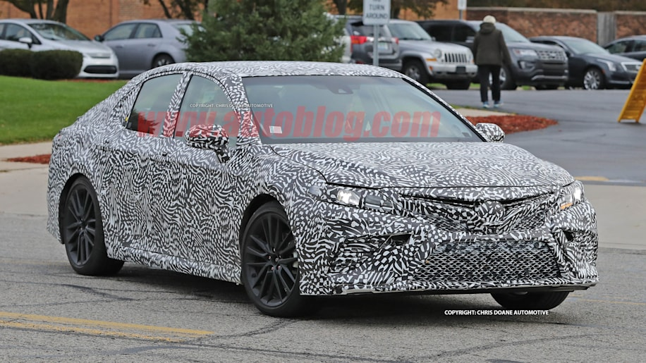 2018 Toyota Camry Spy Shots Front End Exterior