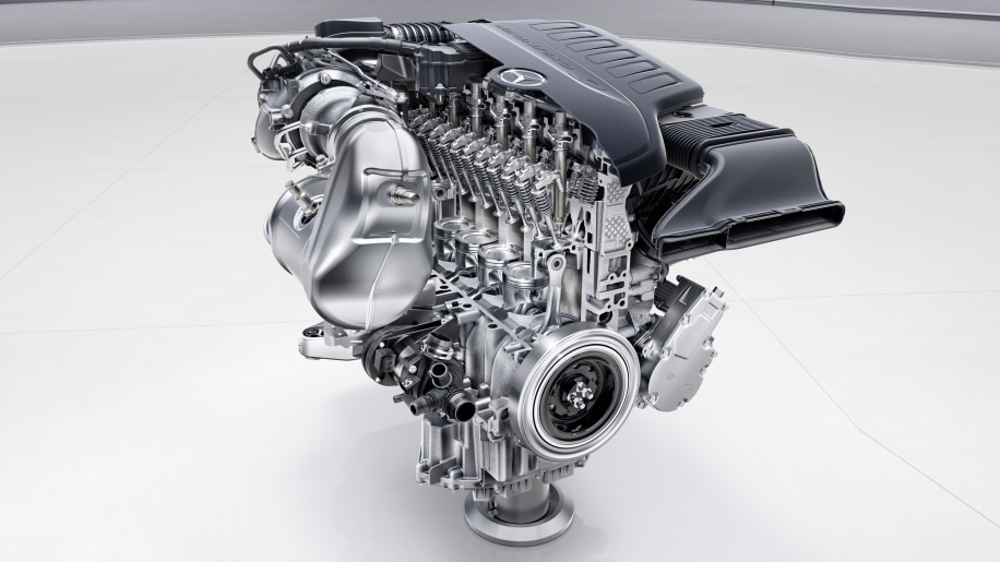 Mercedes unveils four new engines two have inline six for Mercedes benz 5 cylinder diesel engine