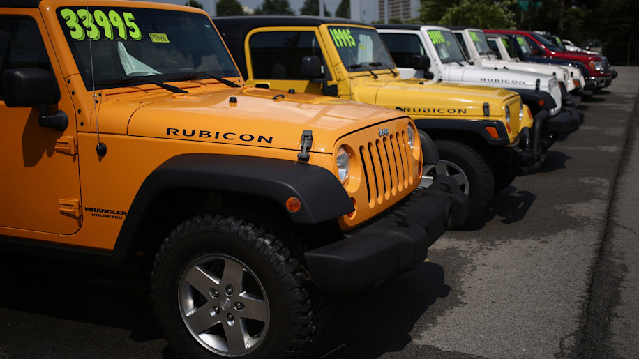 A Jeep Dealership Ahead Of Motor Vehicle Sales