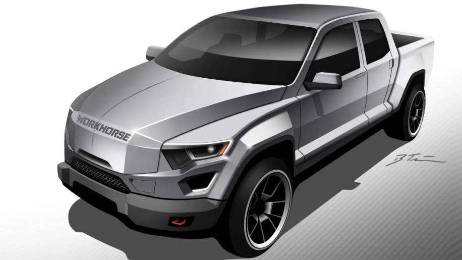 Workhorse W-15 Electric Pickup Truck Front End Exterior