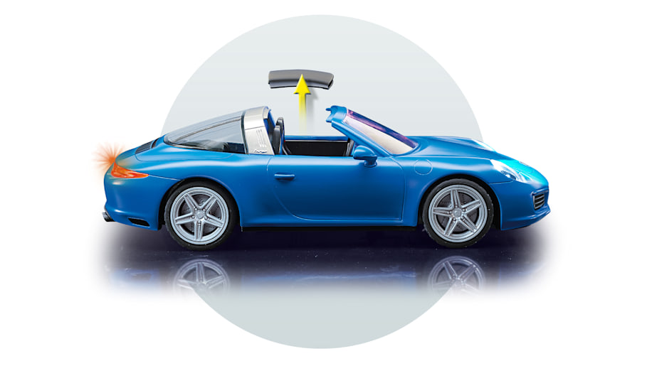 this porsche 911 targa is perfect for playmobil 39 s plastic people autoblog. Black Bedroom Furniture Sets. Home Design Ideas