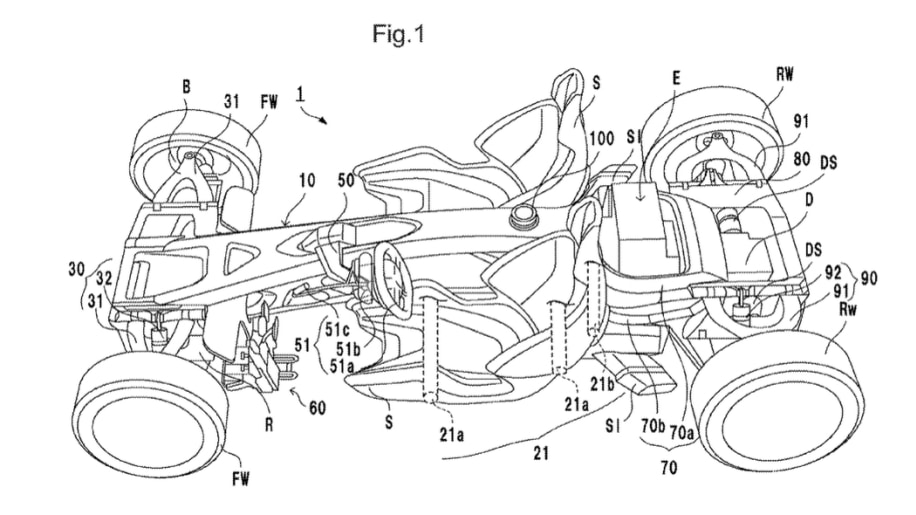 Honda mid-engine car patent drawings Photo Gallery - Autoblog