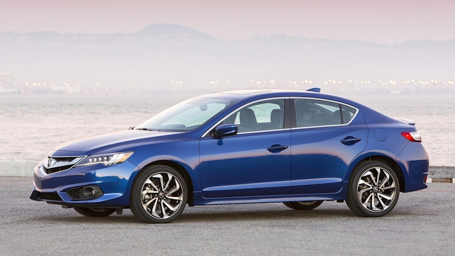 Acura ILX sedan in blue