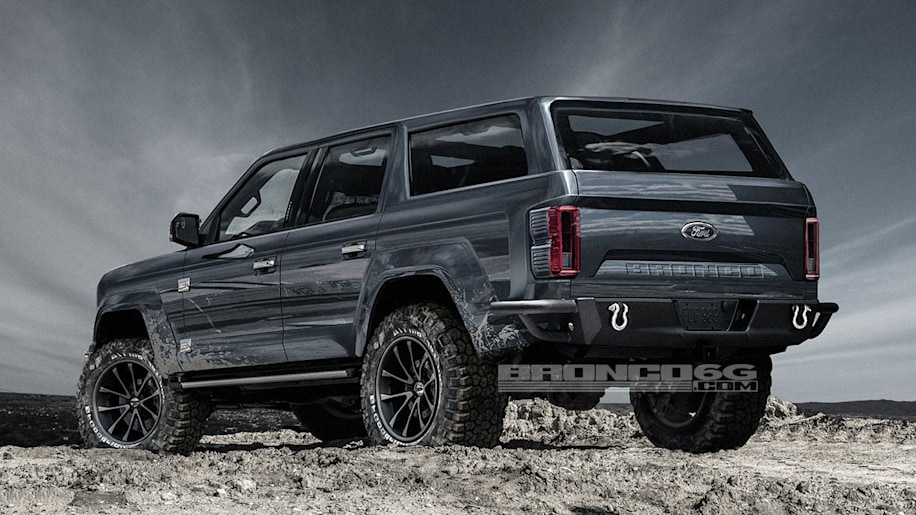2020 Ford Bronco Rendered With Four Doors
