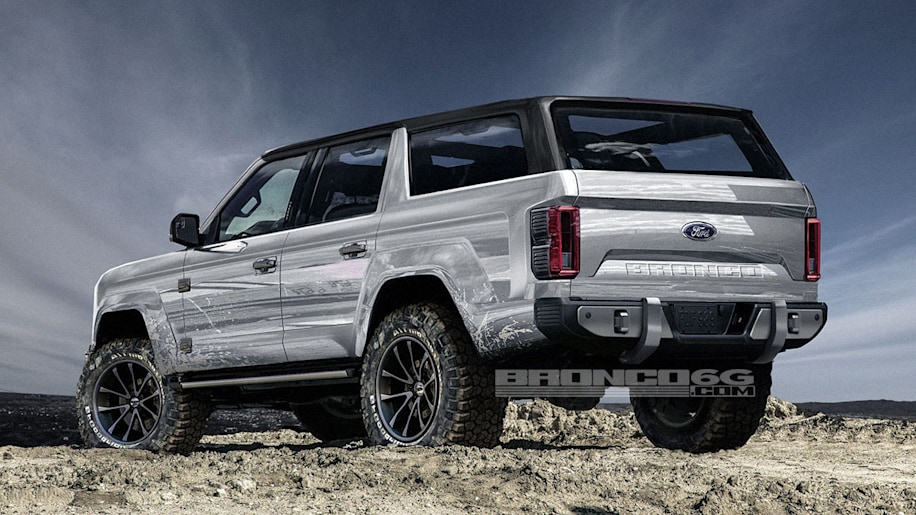 2020 Ford Bronco Interior >> 2020 Ford Bronco rendered with four doors - Autoblog