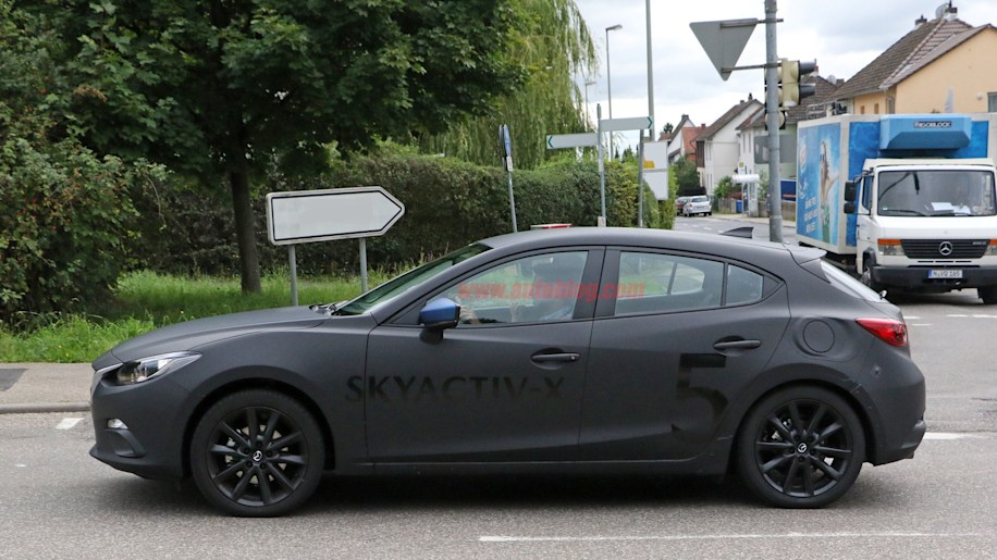 mazda3 with skyactiv x engine technology caught testing in the wild autoblog. Black Bedroom Furniture Sets. Home Design Ideas