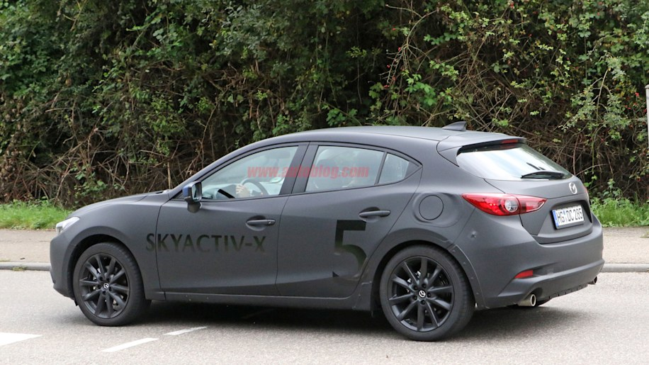 mazda3 with skyactiv x engine technology caught testing in. Black Bedroom Furniture Sets. Home Design Ideas