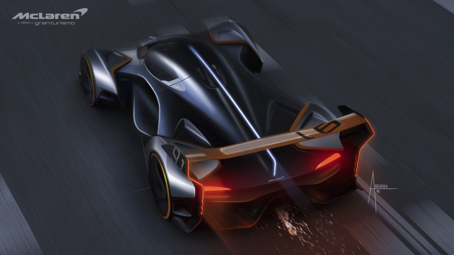 McLaren Ultimate Vision GT 1134hp hybrid with a crazy driving