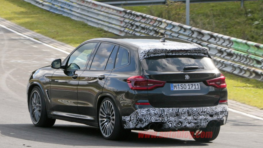 Bmw X3 M Spied Looking Aggressive And Nearly Uncovered Autoblog