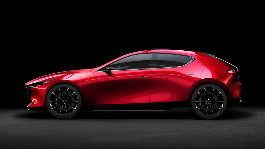 mazda kai concept hints at a more muscular refined mazda3 autoblog. Black Bedroom Furniture Sets. Home Design Ideas