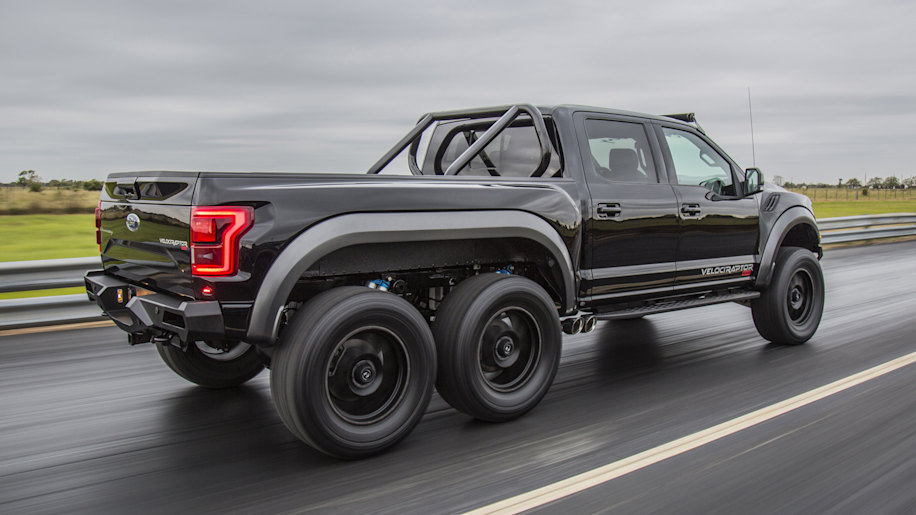 Hennessey Announces Production Of 50 349 000 Velociraptor 6x6 Pickup Trucks Autoblog