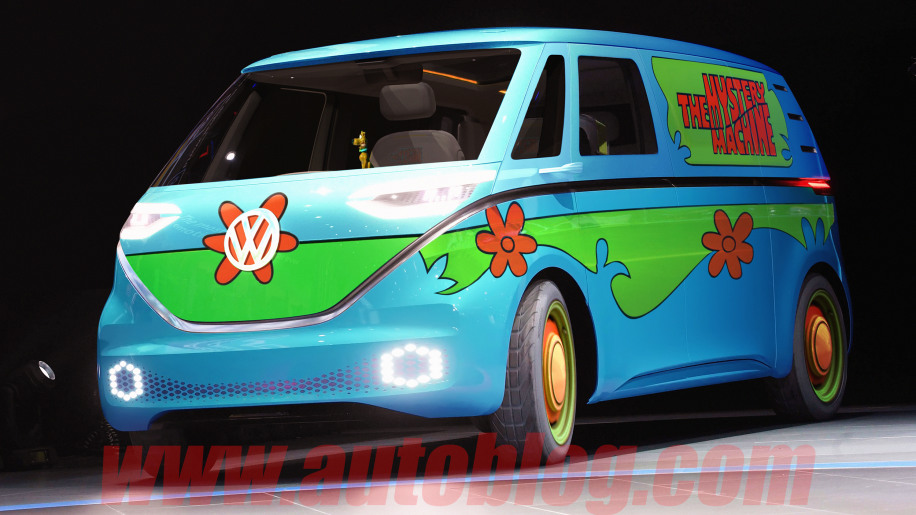 VW I.D. Buzz van Mystery Machine