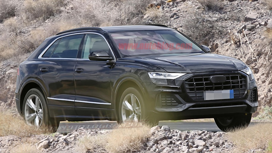 2018 audi q8 caught almost completely undisguised in spy. Black Bedroom Furniture Sets. Home Design Ideas