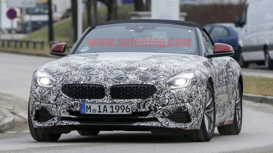 2019 Bmw Z4 Spied With Production Grille And Lights