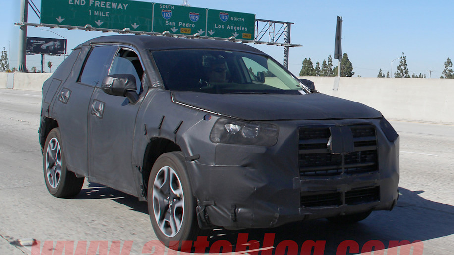 toyota rav4 spy photos show rugged new styling autoblog. Black Bedroom Furniture Sets. Home Design Ideas