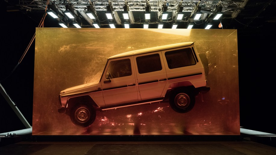 Mercedes G-Class encased in amber