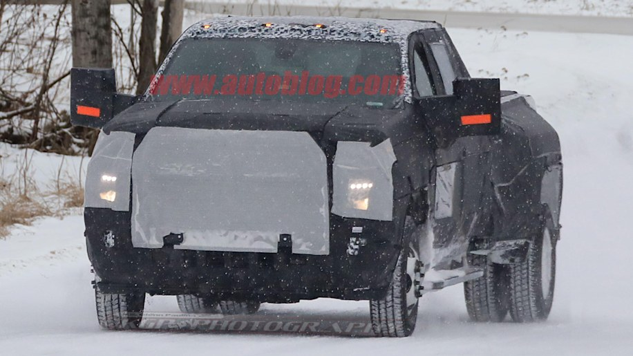 2020 Chevy Silverado Hd And Dually Caught In Winter Testing 2019