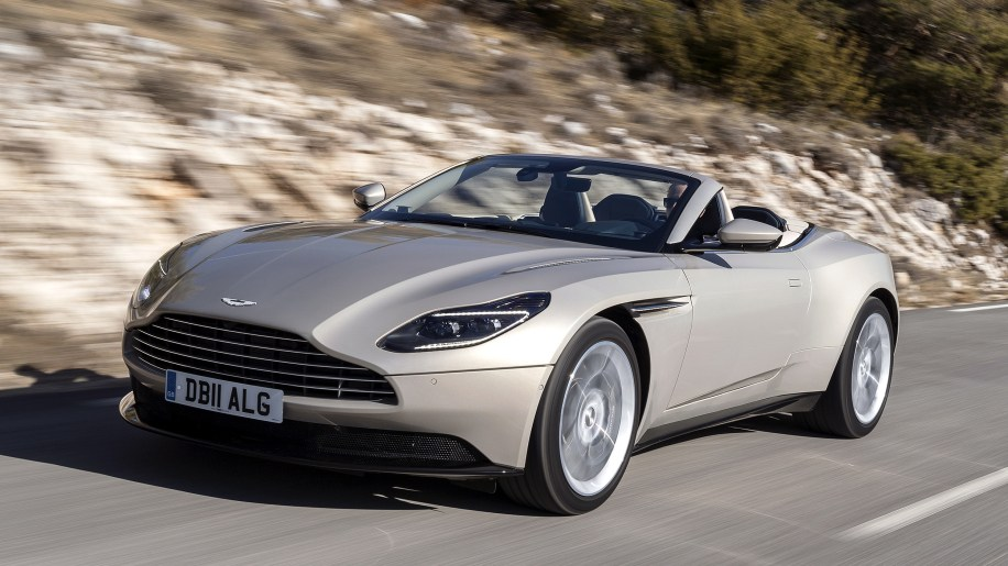aston martin db11 volante first drive review autoblog. Black Bedroom Furniture Sets. Home Design Ideas