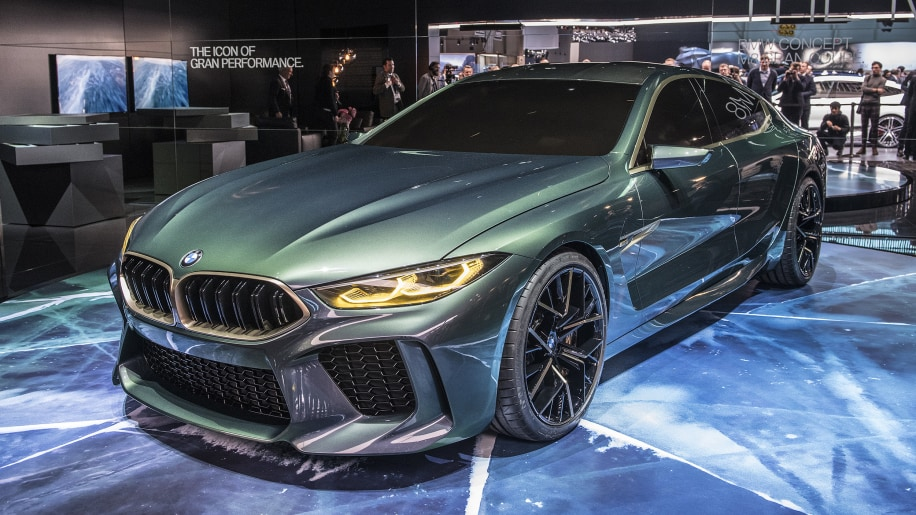 bmw concept m8 gran coupe shows its green and gold face in geneva autoblog. Black Bedroom Furniture Sets. Home Design Ideas