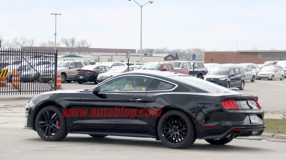 ford bullitt mustang spied for the first time in shadow. Black Bedroom Furniture Sets. Home Design Ideas