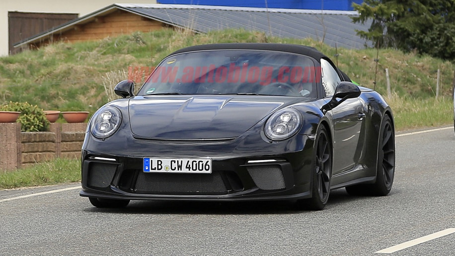 The Porsche 911 Speedster has been spied with 911 GT3 styling - Autoblog