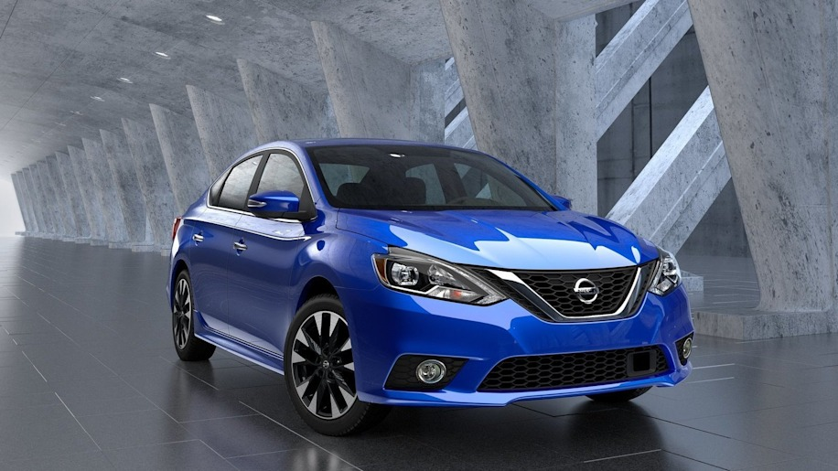 Nissan Sentra in blue