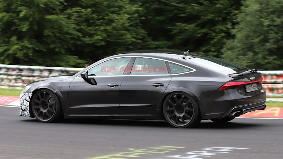 Audi Rs7 Spied With Almost No Camouflage Autoblog