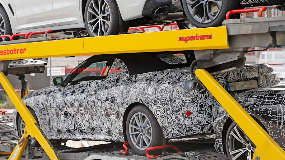 Bmw 4 Series Soft Top Convertible Spied On A Trailer