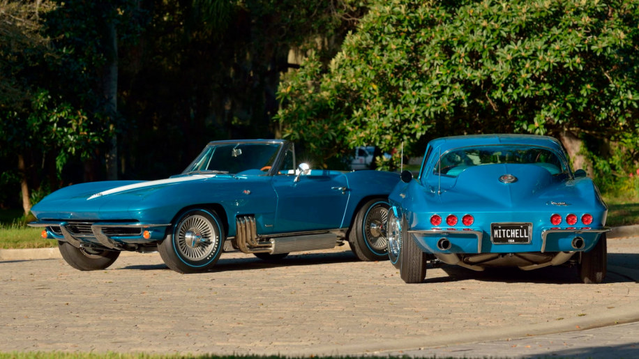 Harley Earl and Bill Mitchell GM Design Corvettes