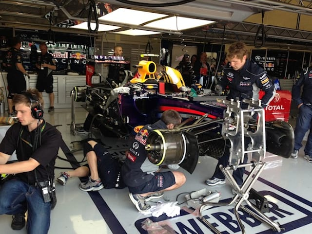 Behind the scenes with Infiniti Red Bull Racing