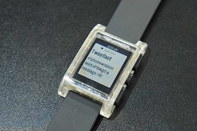 Pebble transparent smartwatch
