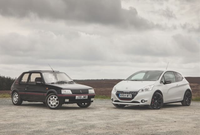 Peugeot 205 GTI and 208 GTI