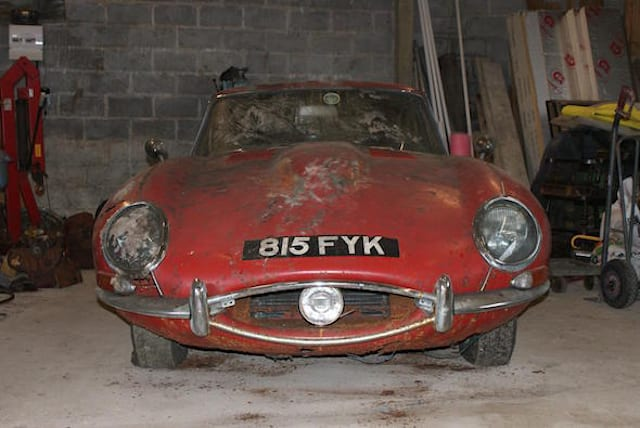 Classic Jaguar that was found under a hedge heads to auction