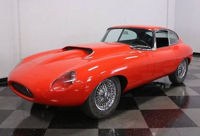 Modified Jaguar E-Type to go under the hammer