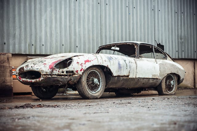 Abandoned Jaguar expected to fetch around £40,000 in auction