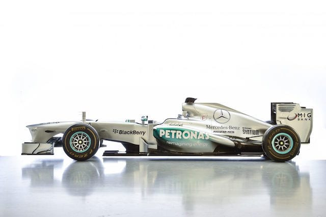 Ex-Lewis Hamilton and Nico Rosberg F1 Mercedes up for sale